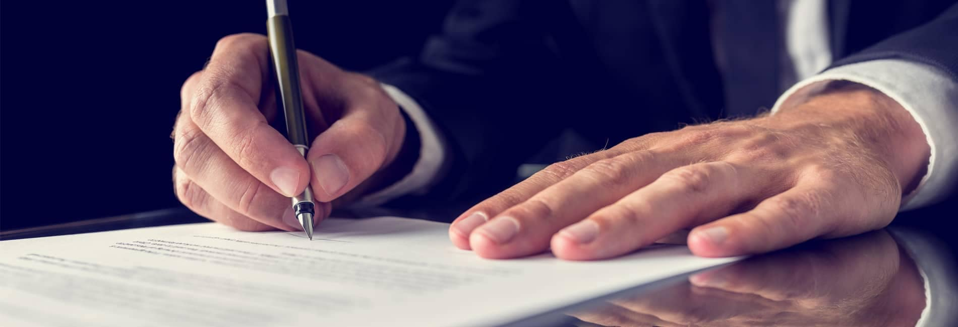 hand with contract