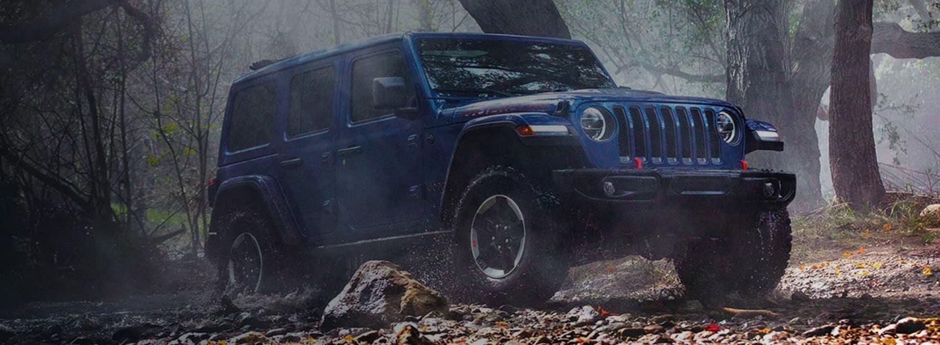 Blue Jeep Truck