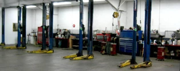 Inside view of the service center
