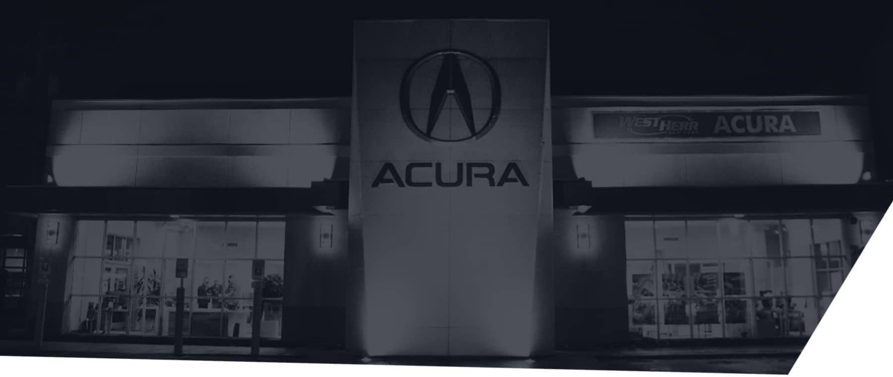 West Herr Acura dealership building exterior