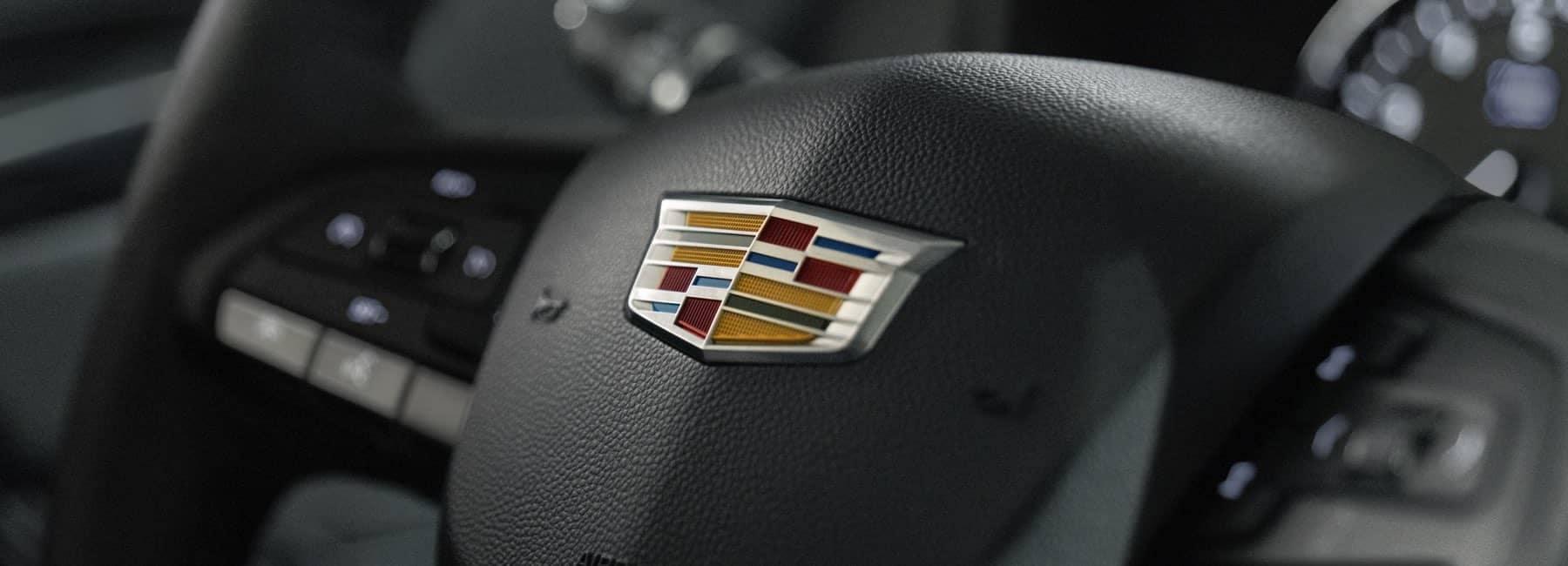 Cadillac Hub cap showing the Cadillac logo
