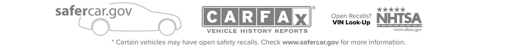 Safecar.gov Banner
