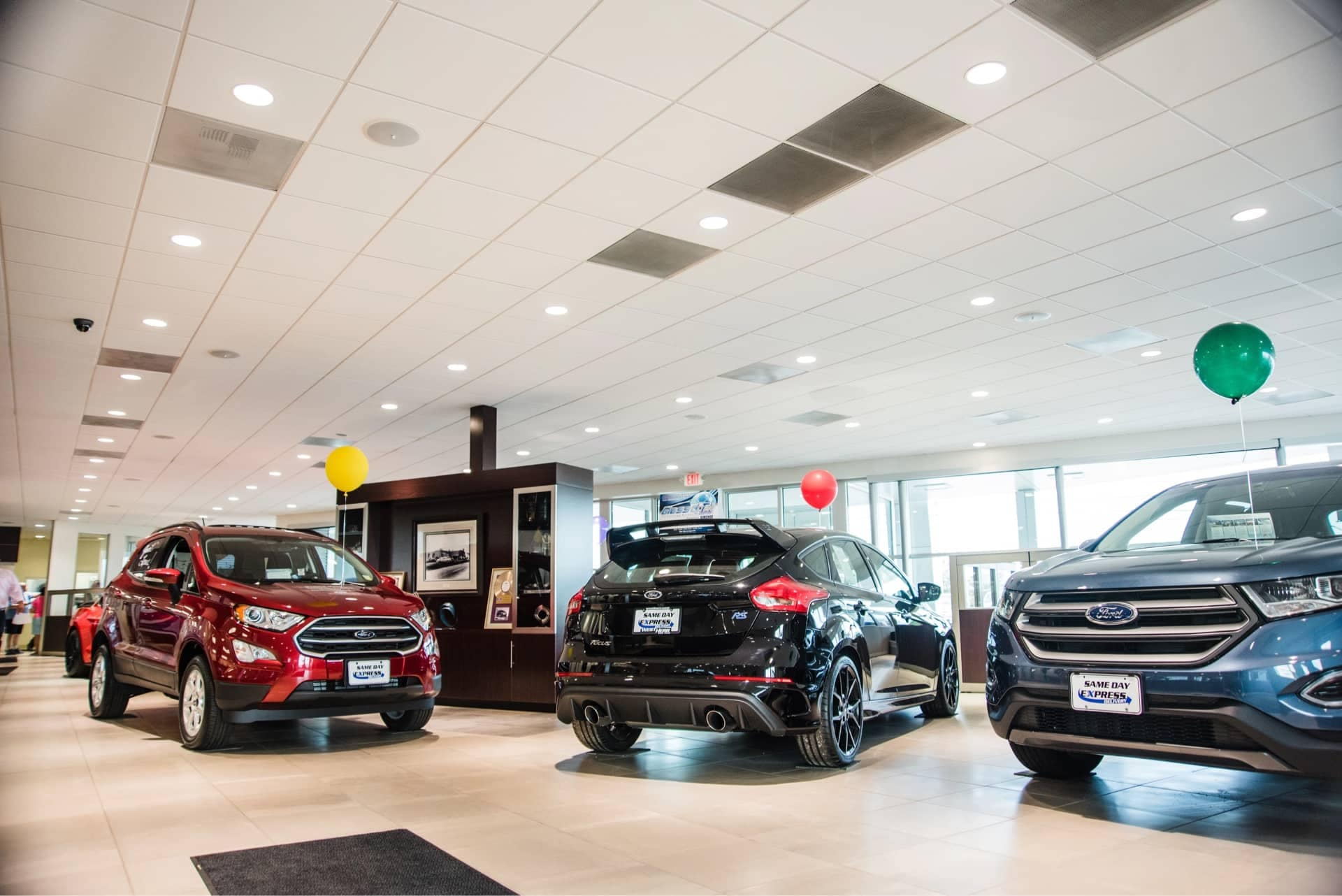 Inside view of the dealership