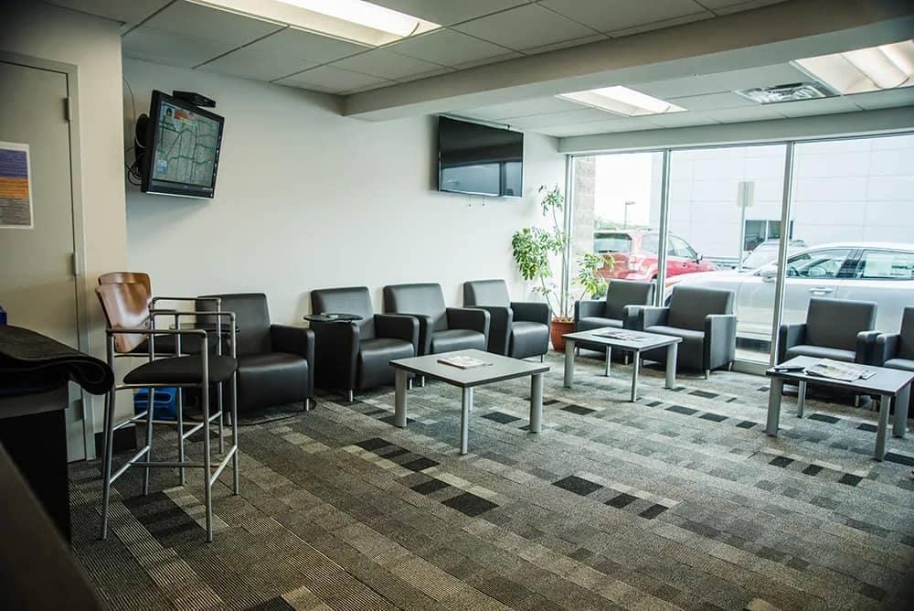 West Herr Kia waiting room