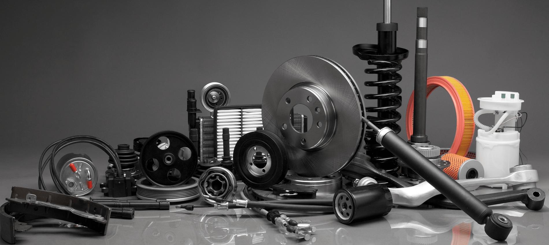 auto parts on table
