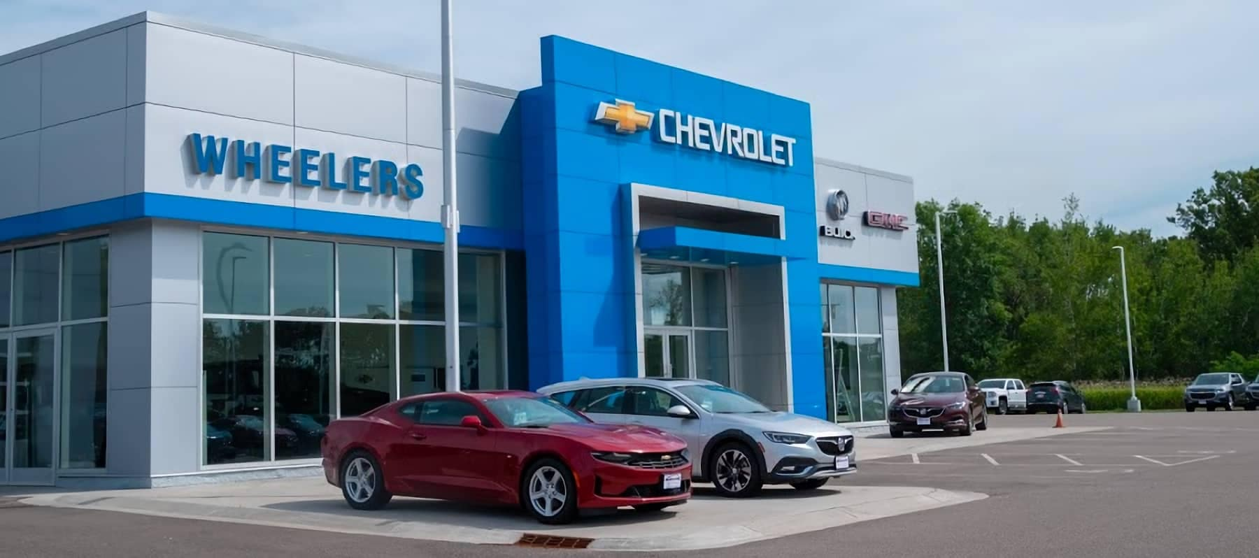 An exterior view of Wheelers Chevrolet GMC Marshfield