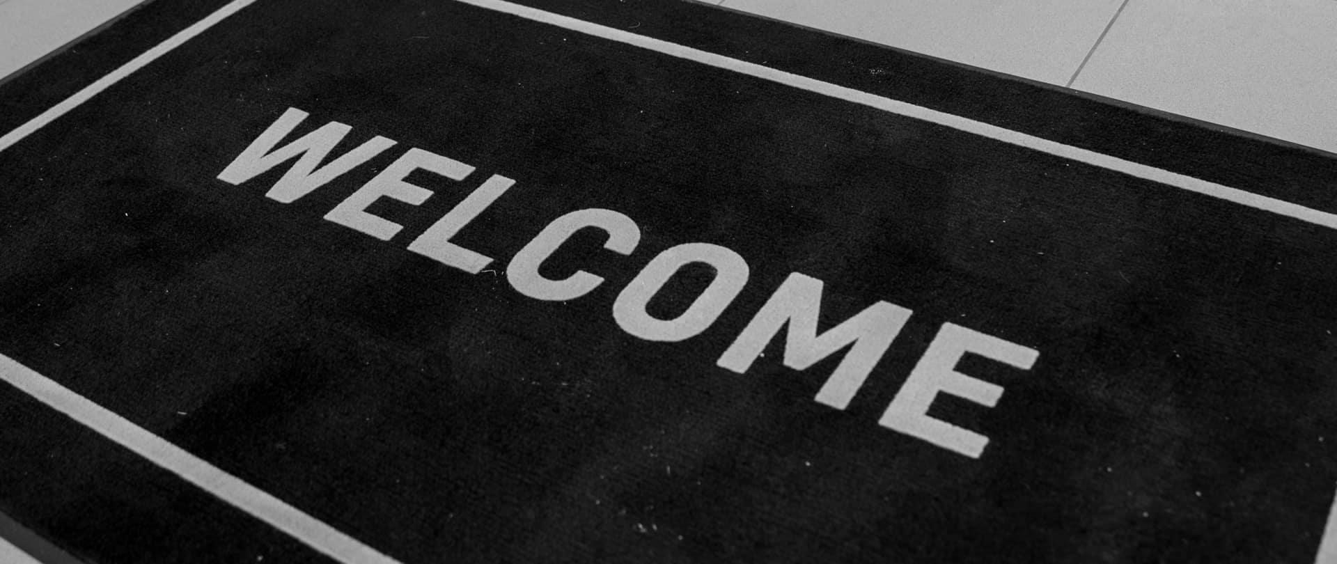a welcome mat