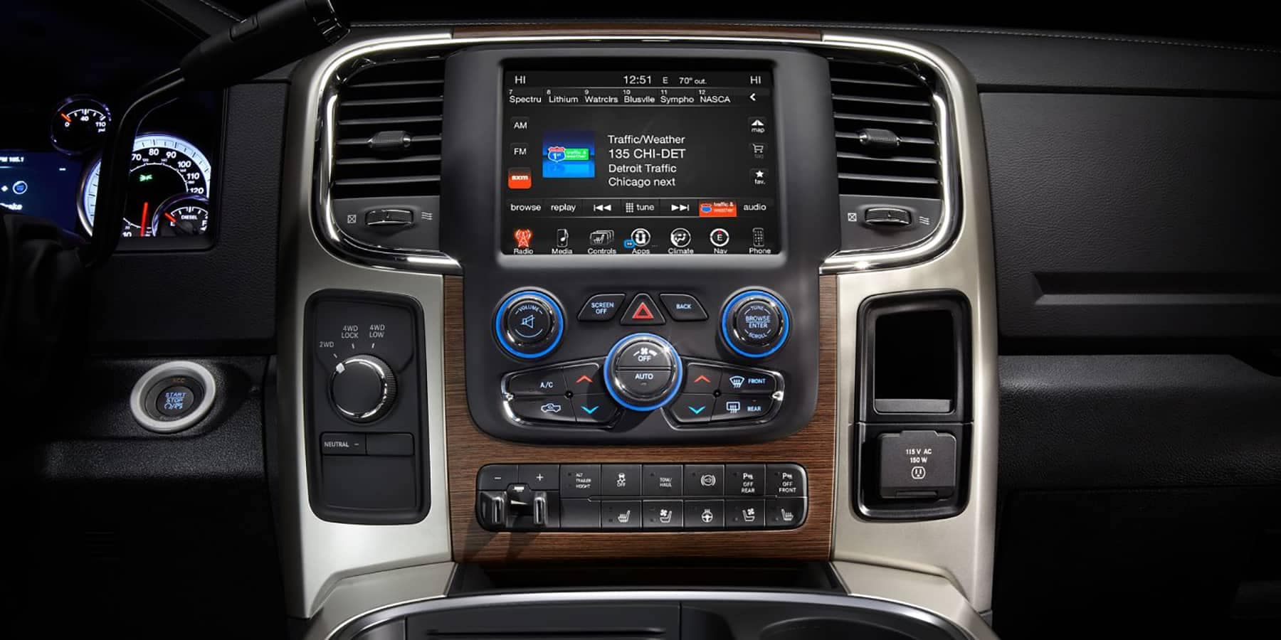 2017 Ram 3500 UConnect Console