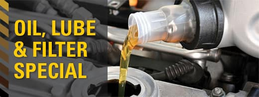 Featured Service Special- Oil, Lube & Filter Change