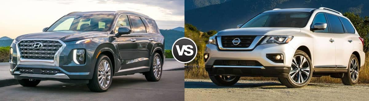 2020 Hyundai Palisade vs. 2020 Nissan Pathfinder Comparison