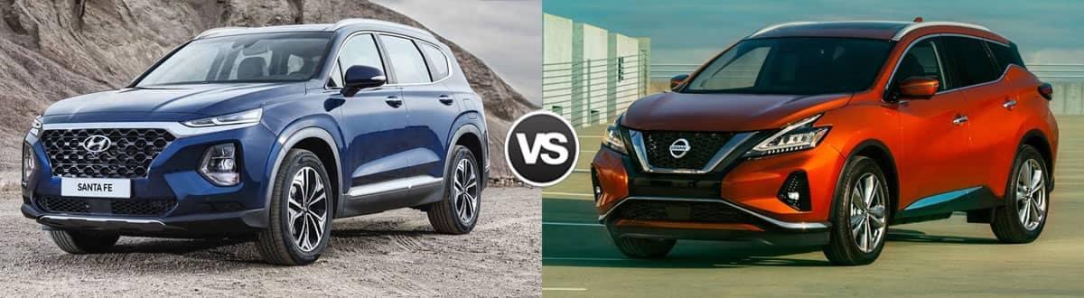 Compare 2020 Hyundai Santa Fe vs 2020 Nissan Murano