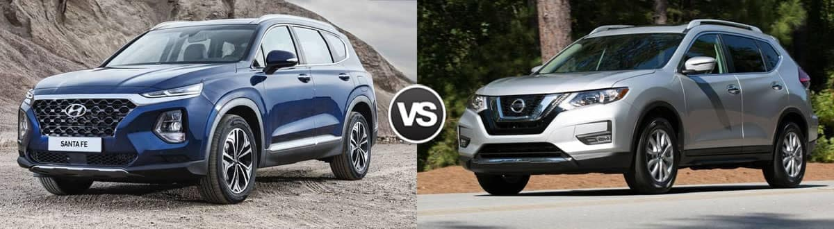 2020 Hyundai Santa Fe vs 2020 Nissan Rogue