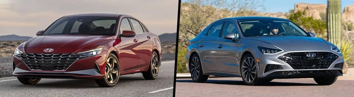 2021 Hyundai Elantra vs 2021 Hyundai Sonata