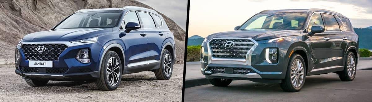 2020 Hyundai Santa Fe vs 2020 Hyundai Palisade