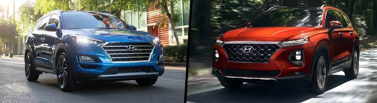 Compare 2020 Hyundai Tucson vs. 2020 Hyundai Santa Fe