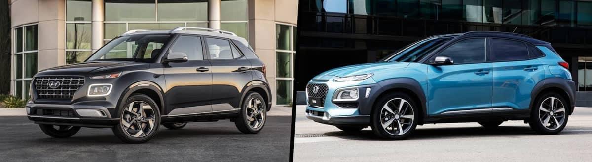 2020 Hyundai Venue vs 2020 Hyundai Kona
