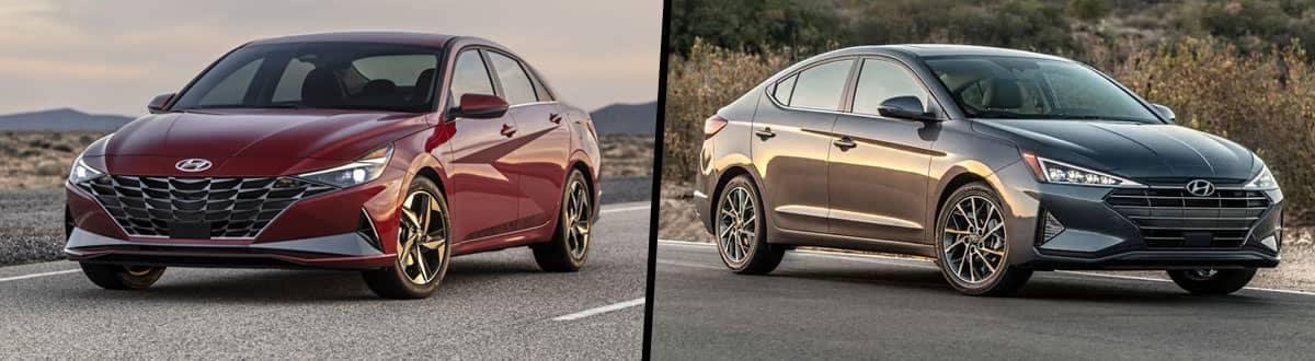 Compare 2021 vs 2020 Hyundai Elantra