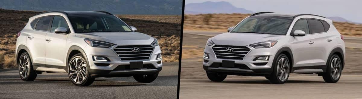 Compare 2021 vs 2020 Hyundai Tucson