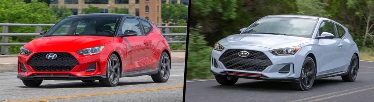 Compare 2021 vs 2020 Hyundai Veloster