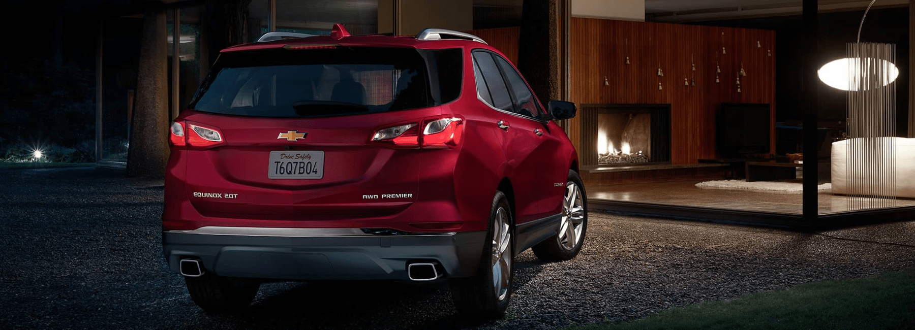 2020 Chevy Equinox parked in front of glass windows